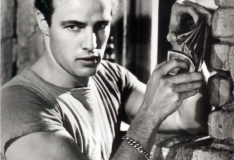 Selo Blackcrow With Marlon Brando By Bettmann